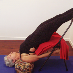 Kim Stansfield in a support shoulder stand