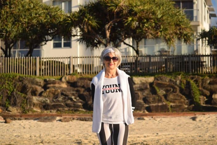 Kim Stansfield on the beach